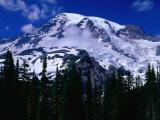 Mt Rainier from Reflection Lake  Mt Rainier National Park  USA