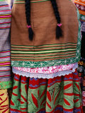 Detail of Woman&#39;s Clothing and Hair  Peru