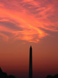Washington Monument at Sunset Washington DC  Virginia  USA