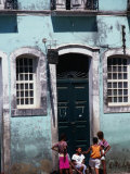 Children on Street in the Pelourinho District  Salvador  Brazil