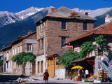 Village Buildings Beneath Pirin Mountains  Bansko  Bulgaria