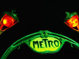 Art-Nouveau Metro Chateau d&#39;Eau Sign  Paris  France