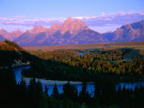 Teton Mountains from Snake River Overlook  Grand Teton National Park  Wyoming  USA