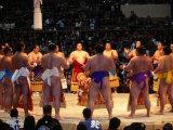 Traditional Ceremony Before Sumo Wrestling  Osaka  Japan