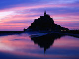 The Mont Reflected in the Bay at Dusk  Mont St Michel  Basse-Normandy  France