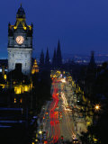 Princes Street at Night  Edinburgh  Scotland