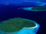 Aerial View of Vava'U Group of Islands  Tonga