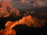 Sunlight Colours the Canyon Rims  Grand Canyon National Park  USA