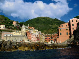 Sea Approach to Town in the Cinque Terre  Vernazza  Liguria  Italy