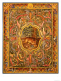 Oriental Panel with Leopard