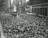 Times Square on VJ Day  1945