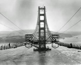 The Golden Gate Bridge During Construction