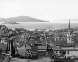 Alcatraz Island in San Francisco Bay  circa 1890