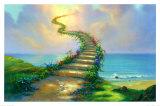Escalier vers le paradis Reproduction d'art par Jim Warren