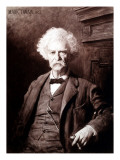 Portrait of Mark Twain  the Gallery of Modern Art  Pitti Palace  Florence