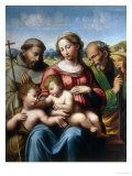 Holy Family with St Francis and Young St John  Conserved at the Galleria Estense in Modena