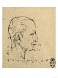 Study of the Proportions of a Human Face  Drawing  Royal Library  Windsor