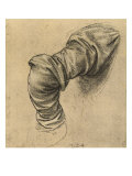 Study for the Drapery of a Sleeve Black Pencil on White Paper  Royal Library  Windsor