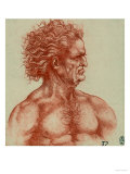 Study for a Male Head  Pen Drawing on White Paper Preserved at the Royal Library of Windsor