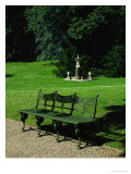 Cast Iron Bench and Fountain