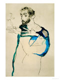 Painter Gustav Klimt in His Blue Painter&#39;s Smock  1913