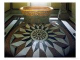 Schloss Glienicke  Berlin  the Casino  a Terracotta Bathtub  Designed by Karl Friedrich Schinkel