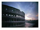 The Colosseum or Flavian Ampitheatre in Rome  Built by the Emperors Vespasian and Titus