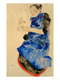 Girl in Blue Apron  1912