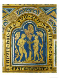 Eve Hands Adam the Apple; the Snake Has a Crowned Woman's Head