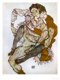 Seated Couple (Egon Und Edith Schiele)  1915