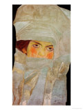 The Artist's Sister Melanie with Silver-Colored Scarves  1908