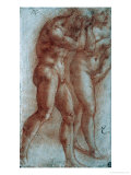 Adam and Eve Chased from Paradise  Copy after Masaccio  Red Chalk