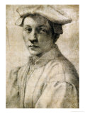 Portrait of Andrea Quaratesi  Around 1532  Black Chalk on Paper