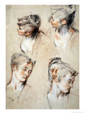 'Four Studies of a Young Woman's Head'  1716-1717