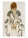 The Artist&#39;s Sister-In-Law in Striped Dress  Seated  1917
