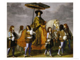 Chancellor Pierre Seguier on Horseback  Leading His Horse is the Young Louis XIV