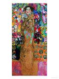 Dame Mit Faecher (Maria Munk) Lady with Fan, 1917/18 Giclée par Gustav Klimt