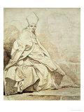 Etude De Figure Drapee Vetue D'Un Costume Ecclesiastique
