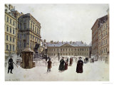 Der Neue Markt  the New Market  Vienna  Watercolour; 1832
