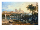 Lincoln Cathedral from the Holmes  Brayford Circa 1802-3