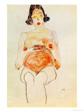 Red Nude  Pregnant  1910