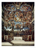 Sistine Chapel with the Retable of the Last Judgement (Fall of the Damned) Giclée par Michelangelo Buonarroti