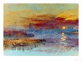 Coucher de soleil sur Rouen Giclée par J. M. W. Turner