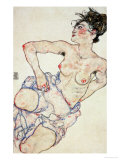 Kneeling Female Semi-Nude  1917