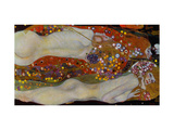 Serpents d'eau II, 1904-07 Giclée par Gustav Klimt