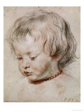 Portrait Study of His Son Nicolas  1621