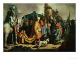 David Offers the Head of Goliath to King Saul