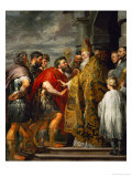 Saint Ambrosius and Emperor Theodosius  Around 1615