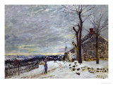 Snow in Veneux-Nadon  Around 1880