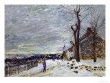 Snow in Veneux-Nadon  Around 1880